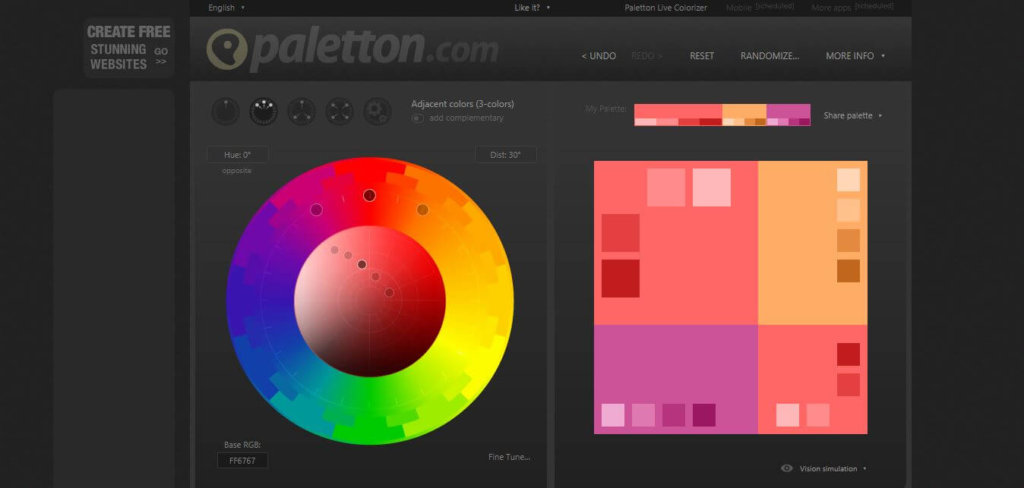 free social media tools - Paletton