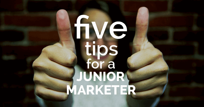 tips for a junor marketer